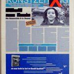 Volker Hildebrandt, Kunstzeitung David, 1997-99,  Acryl auf Zeitung auf Leinwand,  47 x 33 cm