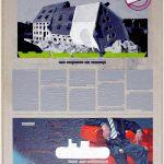 Volker Hildebrandt, Kunstzeitung Einsturz, 1997-99,  Acryl auf Zeitung auf Leinwand,  47 x 33 cm