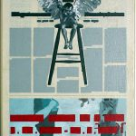 Volker Hildebrandt, Kunstzeitung Engel, 1997-99,  Acryl auf Zeitung auf Leinwand,  47 x 33 cm