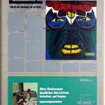 Volker Hildebrandt, Kunstzeitung Gilbert + George, 1997-99,  Acryl auf Zeitung auf Leinwand,  47 x 33 cm