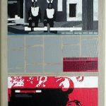 Volker Hildebrandt, Kunstzeitung Hasen, 1997-99,  Acryl auf Zeitung auf Leinwand,  47 x 33 cm