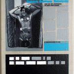 Volker Hildebrandt, Kunstzeitung Newton, 1997-99,  Acryl auf Zeitung auf Leinwand,  47 x 33 cm