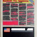 Volker Hildebrandt, Kunstzeitung Nurtext, 1997-99,  Acryl auf Zeitung auf Leinwand,  47 x 33 cm