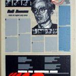 Volker Hildebrandt, Kunstzeitung Warhol, 1997-99,  Acryl auf Zeitung auf Leinwand,  47 x 33 cm