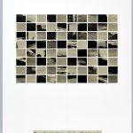 Volker Hildebrandt, Landschaft nach der Schlacht, 21.2.1998, Collage auf Karton, 59,5  x 42 cm