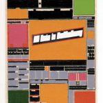 Volker Hildebrandt, M 122, 1994, Acryl auf Zeitung, 55 x 40 cm, Slg. Deutsche Bank