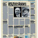 Volker Hildebrandt, M 242, 1998, Acryl auf Zeitung, ca 47 x 31 cm