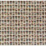Volker Hildebrandt, M 62, 1993, insgesamt 357 Arbeiten, Acryl auf EXPRESS auf Leinwand, je 47 x 33 cm