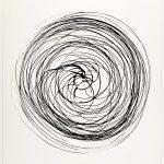 Volker Hildebrandt, Prinzip Spirale 19-82, 1982, Tusche auf Papier, 48 x 36 cm