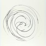 Volker Hildebrandt, Prinzip Spirale 20-82, 1982, Tusche auf Papier, 48 x 36 cm