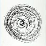 Volker Hildebrandt, Prinzip Spirale 21-82, 1982, Tusche auf Papier, 48 x 36 cm