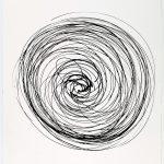Volker Hildebrandt, Prinzip Spirale 22-82, 1982, Tusche auf Papier, 48 x 36 cm
