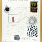 Volker Hildebrandt, Rosa Zimmer Prospekt 1, 1997, Mischtechnik auf Karton, 60 x 50 cm