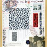 Volker Hildebrandt, Rosa Zimmer Prospekt 3, 1997, Mischtechnik auf Karton, 60 x 50 cm