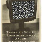 Volker Hildebrandt, Trauen Sie sich zu..., 1992, Acryl auf Zeitung, 55 x 40 cm