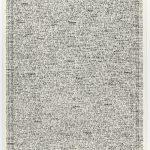Volker Hildebrandt, Zeitbild, Tag für Tag, Dekade 191, 1979, Stempel auf Karton, 65 x 50 cm
