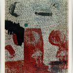Volker Hildebrandt, Zeitbild, Tag für Tag, Die Zeit heilt alle Wunden. Vorläufig beendet am 8.1.80, 1980, Stempel auf Rauschenberg-Poster, 80 x 60 cm